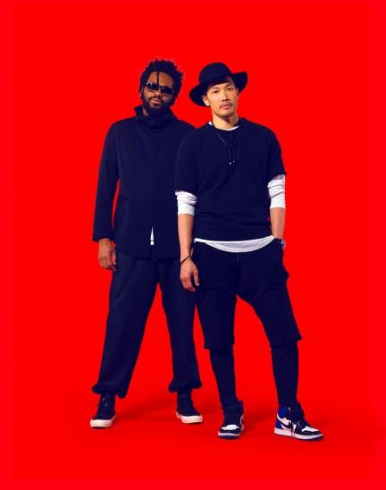 Portrait of Dao-Yi Chow and Maxwell Osborne (Public School) by Herring & Herring (Dimitri Scheblanov and Jesper Carlsen) for Fast Company magazine