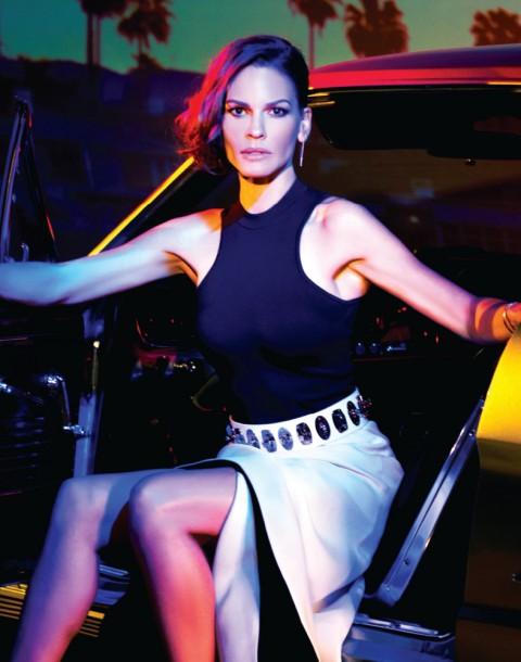 Fashion, Celebrity Editorial by Herring & Herring (Dimitri Scheblanov and Jesper Carlsen) starring Hilary Swank