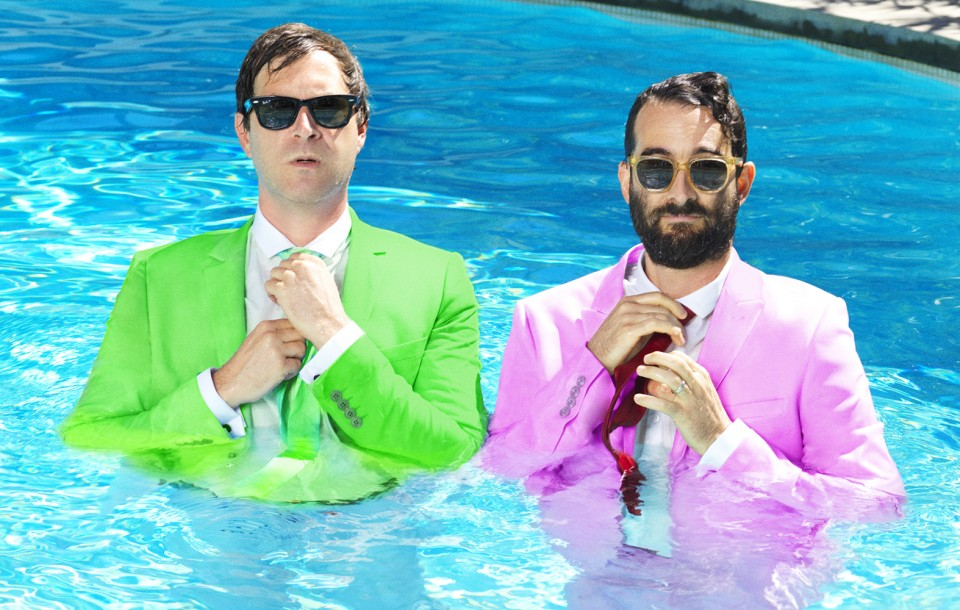 Celebrity Editorial by Herring & Herring (Dimitri Scheblanov and Jesper Carlsen) starring Jay and Mark Duplass aka The Duplass Brothers for Playboy magazine