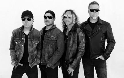 Lars Ulrich, Robert Trujillo,  Kirk Hammett, James Hetfield, Metallica photographed by Herring & Herring (Dimitri Scheblanov and Jesper Carlsen)