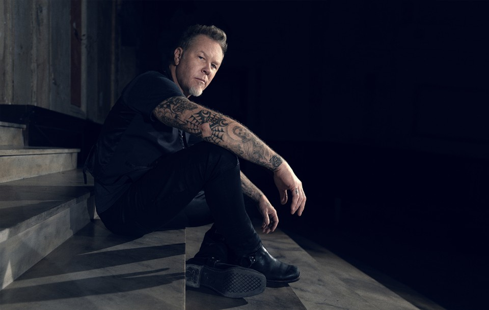 James Hetfield of Metallica photographed by Herring & Herring (Dimitri Scheblanov and Jesper Carlsen)