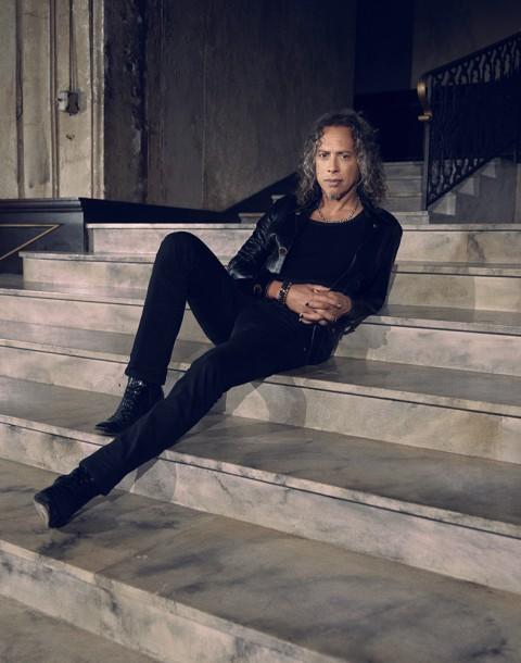 Kirk Hammett of Metallica photographed by Herring & Herring (Dimitri Scheblanov and Jesper Carlsen)