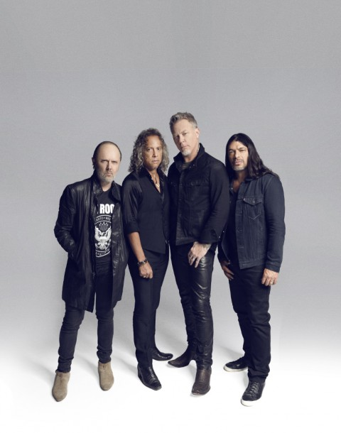 Lars Ulrich, Robert Trujillo,  Kirk Hammett, James Hetfield, Metallica photographed by Herring & Herring (Dimitri Scheblanov and Jesper Carlsen)