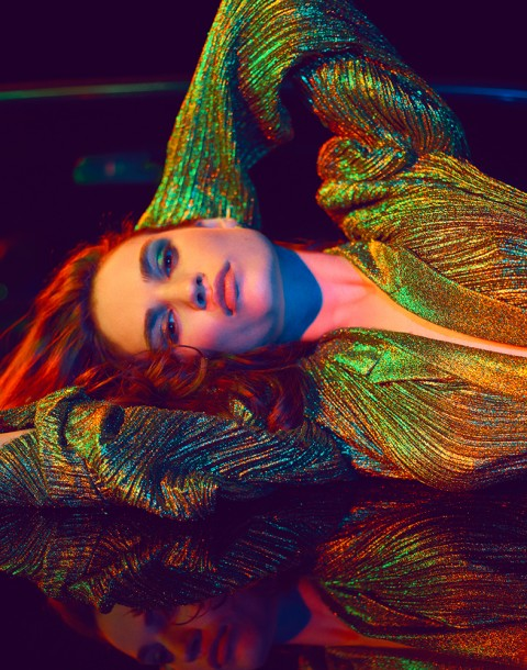 English actress Lily James shot by photography duo Herring & Herring (Dimitri Scheblanov and Jesper Carlsen) for GQ magazine