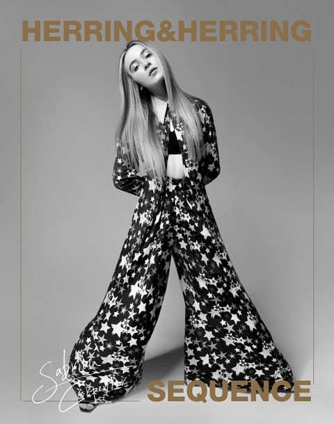 Actress and Musician Sabrina Carpenter shot by photography duo Herring & Herring, Dimitri Scheblanov, Jesper Carlsen