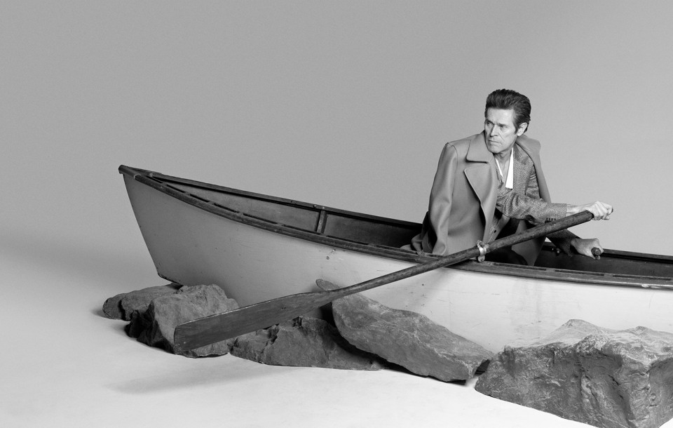 Actor Willem Dafoe shot by photography duo Herring & Herring, Dimitri Scheblanov, Jesper Carlsen