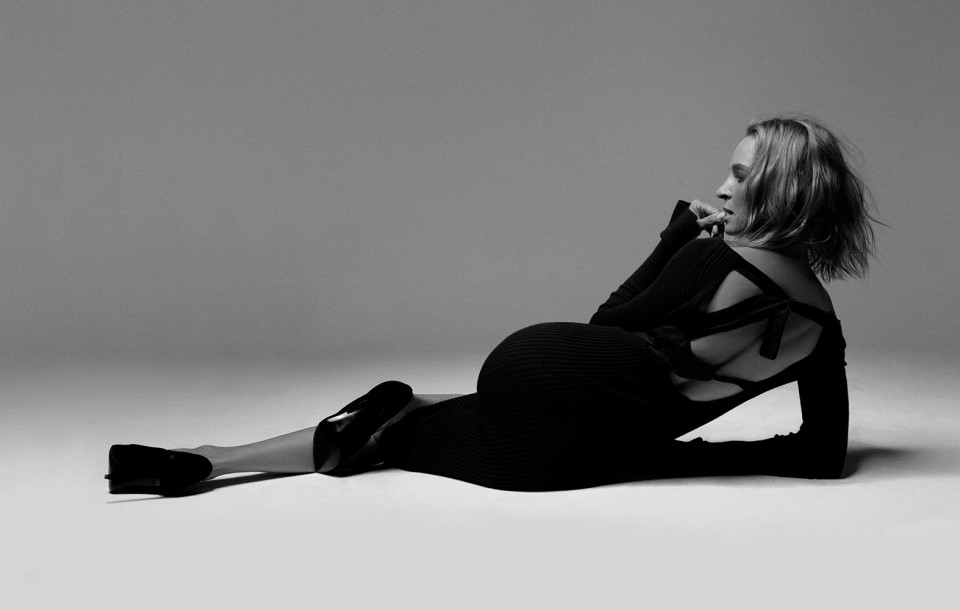 Actress Uma Thurman shot by photography duo Herring & Herring, Dimitri Scheblanov, Jesper Carlsen