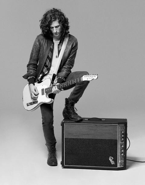 Musician Nick Valensi shot by photography duo Herring & Herring, Dimitri Scheblanov, Jesper Carlsen