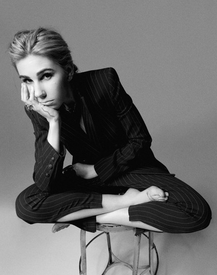 Actress Zosia Mamet shot by photography duo Herring & Herring, Dimitri Scheblanov, Jesper Carlsen