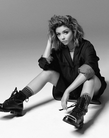 Actor Sarah Hyland shot by photography duo Herring & Herring, Dimitri Scheblanov, Jesper Carlsen