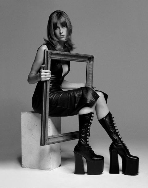 Model Sojourner Morrell shot by photography duo Herring & Herring, Dimitri Scheblanov, Jesper Carlsen