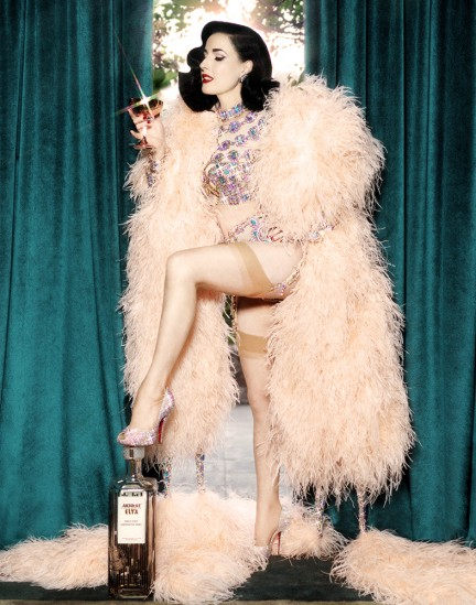 Dita Von Teese photographed by Herring & Herring for Absolut Elyx