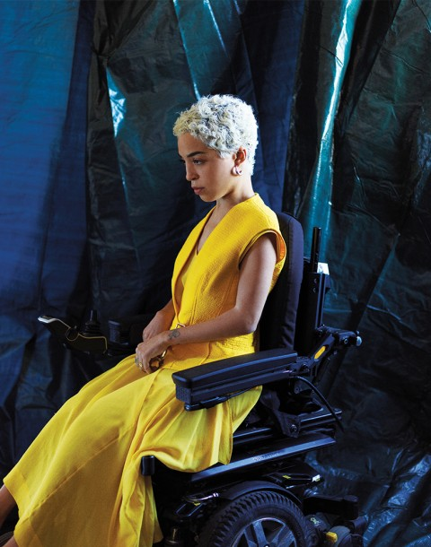 Model Jillian Mercado shot by photography duo Herring & Herring, Dimitri Scheblanov, Jesper Carlsen