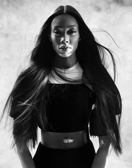 Model Winnie Harlow shot by photography duo Herring & Herring, Dimitri Scheblanov, Jesper Carlsen