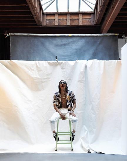 Rapper Wiz Khalifa shot by photography duo Herring & Herring, Dimitri Scheblanov, Jesper Carlsen